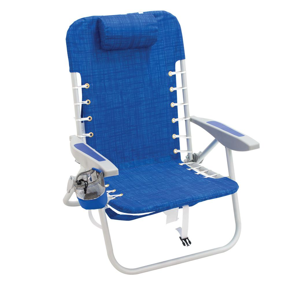 Rio Lace Up Aluminum Beach Backpack Patio Lawn Chair Sc529