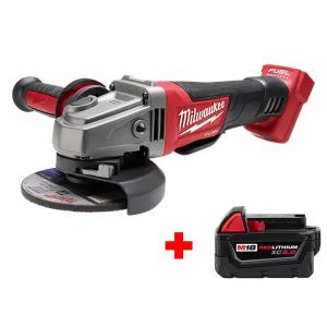 Milwaukee M18 Fuel 18-Volt Lithium-Ion Brushless Cordless Grinder + Milwaukee M18 18-Volt Lithium-Ion Battery Pack