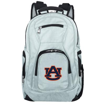 NCAA Auburn Tigers 19 in. Gray Laptop Backpack