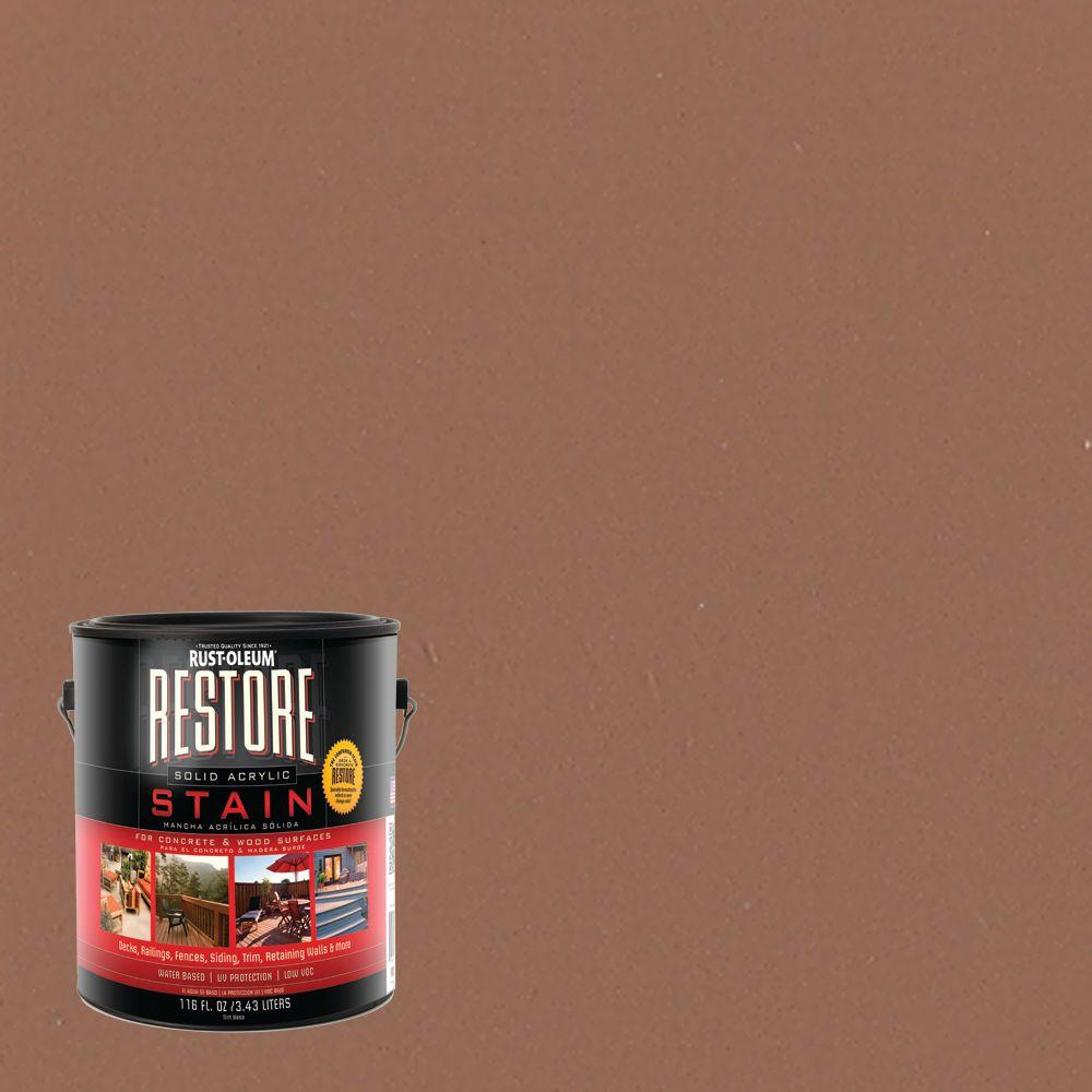 Rust-Oleum Restore 1 gal. Solid Acrylic Water Based Adobe Exterior Stain