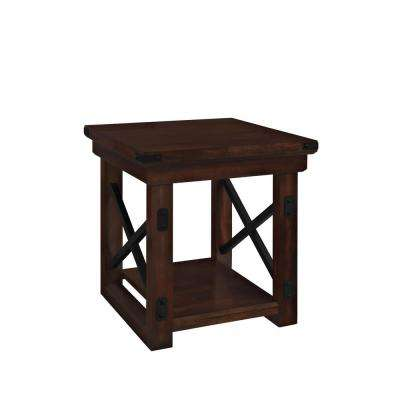 Forest Grove Mahogany Storage End Table