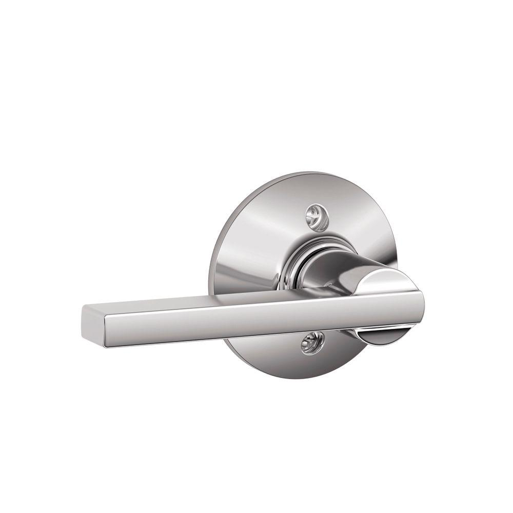 Schlage Latitude Bright Chrome Dummy Door Lever F170 Lat