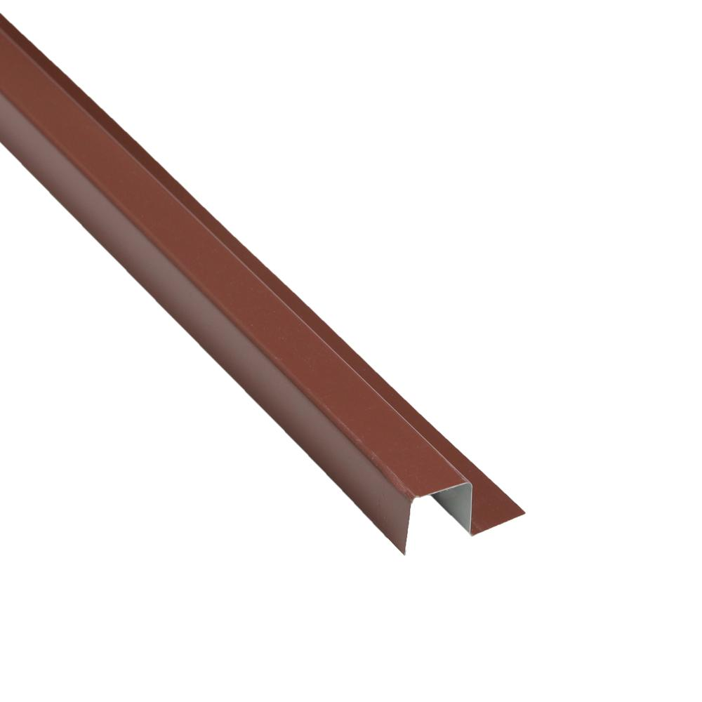 1-1/4 in. x 10.5 ft. Brown Metal Base Trim Drip Edge
