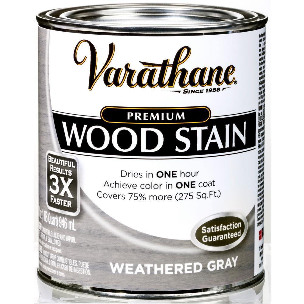 Varathane 1 qt. Weathered Gray Premium Fast Dry Interior Wood Stain (2-Pack)