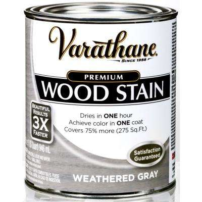 1 qt. Weathered Gray Premium Fast Dry Interior Wood Stain (2-Pack)