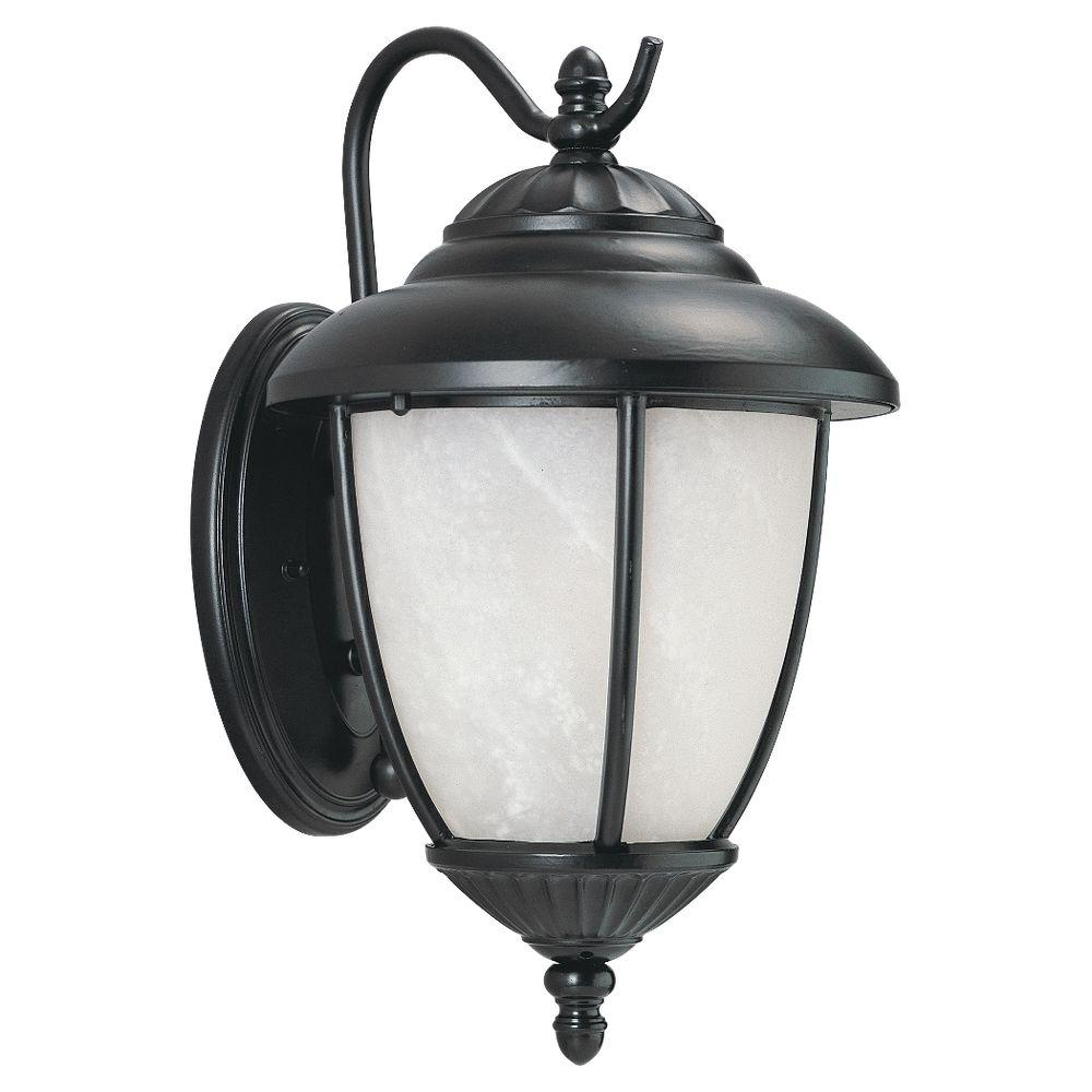 Sea Gull Lighting Yorktowne 1-Light Outdoor Black Fixture