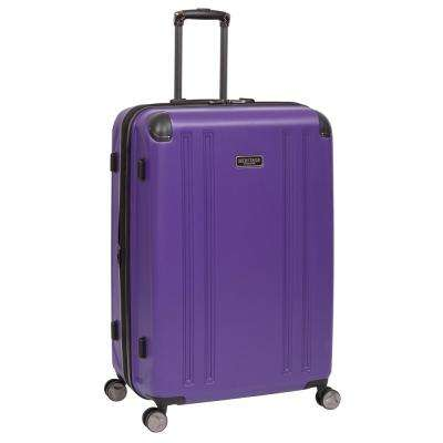 O'Hare Collection Lightweight Hardside ABS 8-Wheel Expandable Upright 29 in. Checked Luggage with Corner Guards
