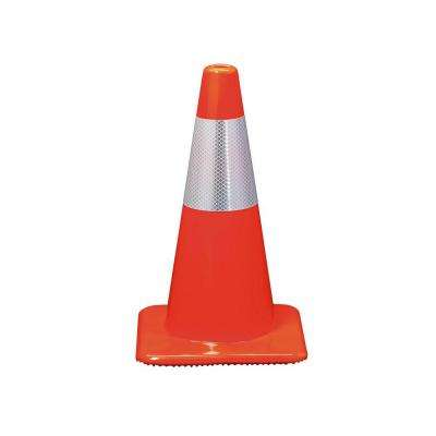 18 in. Orange Reflective Traffic Safety Cone