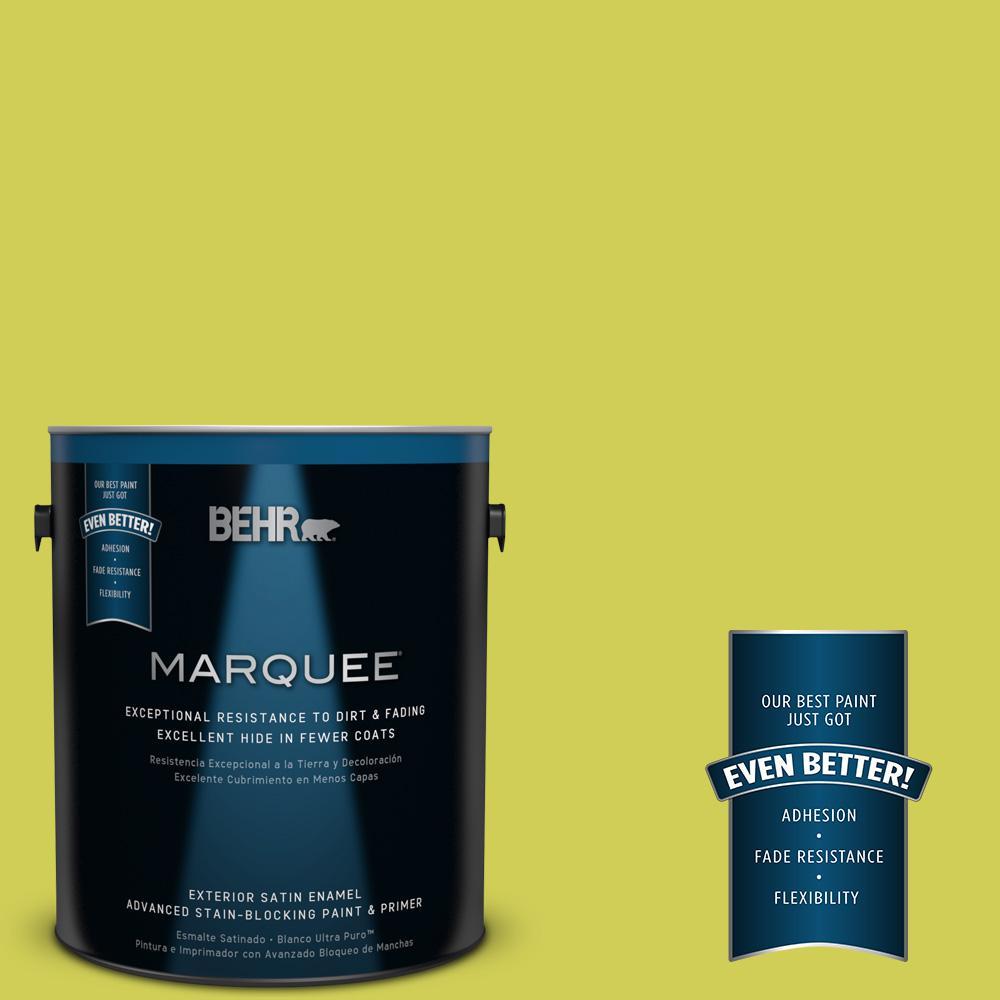 BEHR MARQUEE 1-gal. #400B-5 Grape Green Satin Enamel Exterior Paint