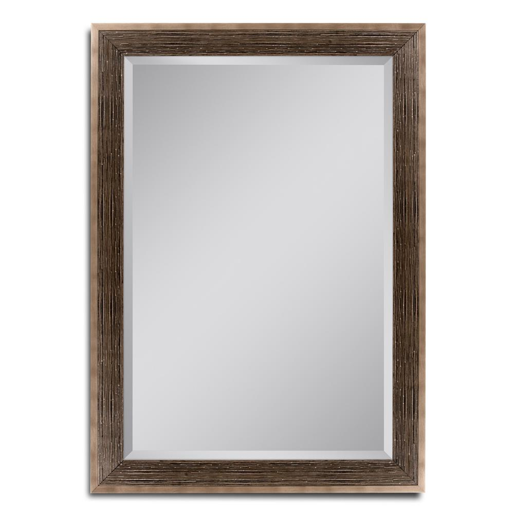 Home decorators collection sadie 28 in w x 36 in h bathroom single wall mirror in dove grey Home decorators collection mirrors