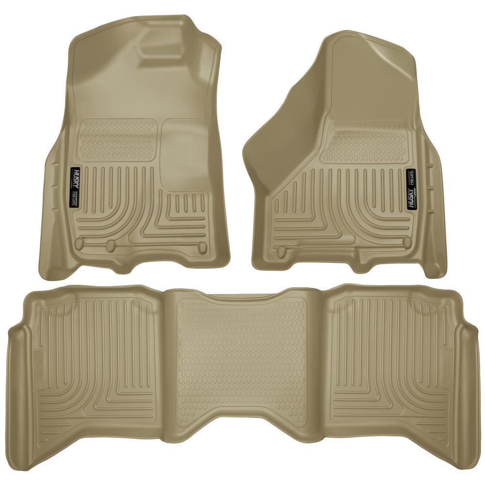 Husky Liners Front Floor Liners Fits 09-18 Ram 1500 Crew Cab 53510 10-18 2500//3500