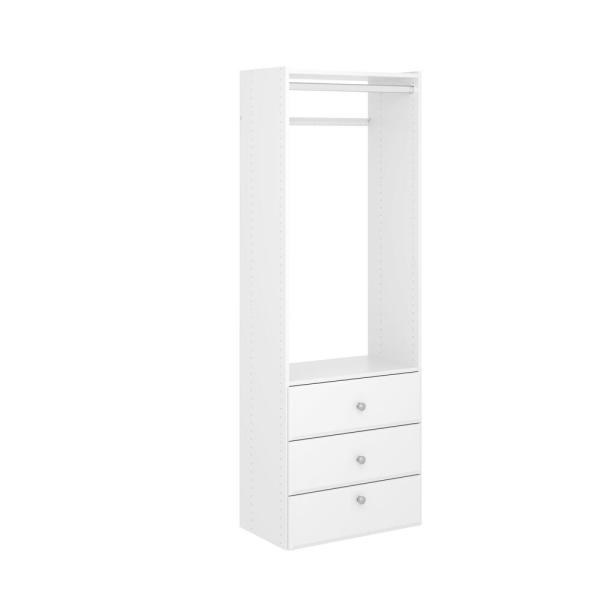 Elite 25 in. W Classic White Wood Closet Tower