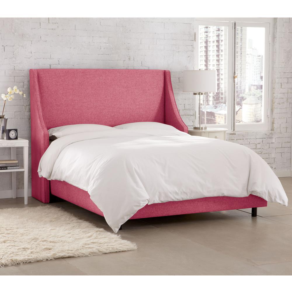 Groupie Azalea California King Swoop Arm Wingback Bed. Pink   Beds   Headboards   Bedroom Furniture   The Home Depot