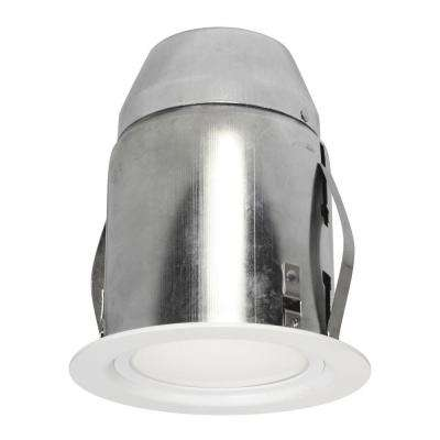 4.13 in. White Recessed Lighting Fixture Designed for Insulated Ceiling