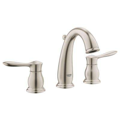 Parkfield 8 in. Widespread 2-Handle 1.2 GPM Bathroom Faucet in Brushed Nickel InfinityFinish