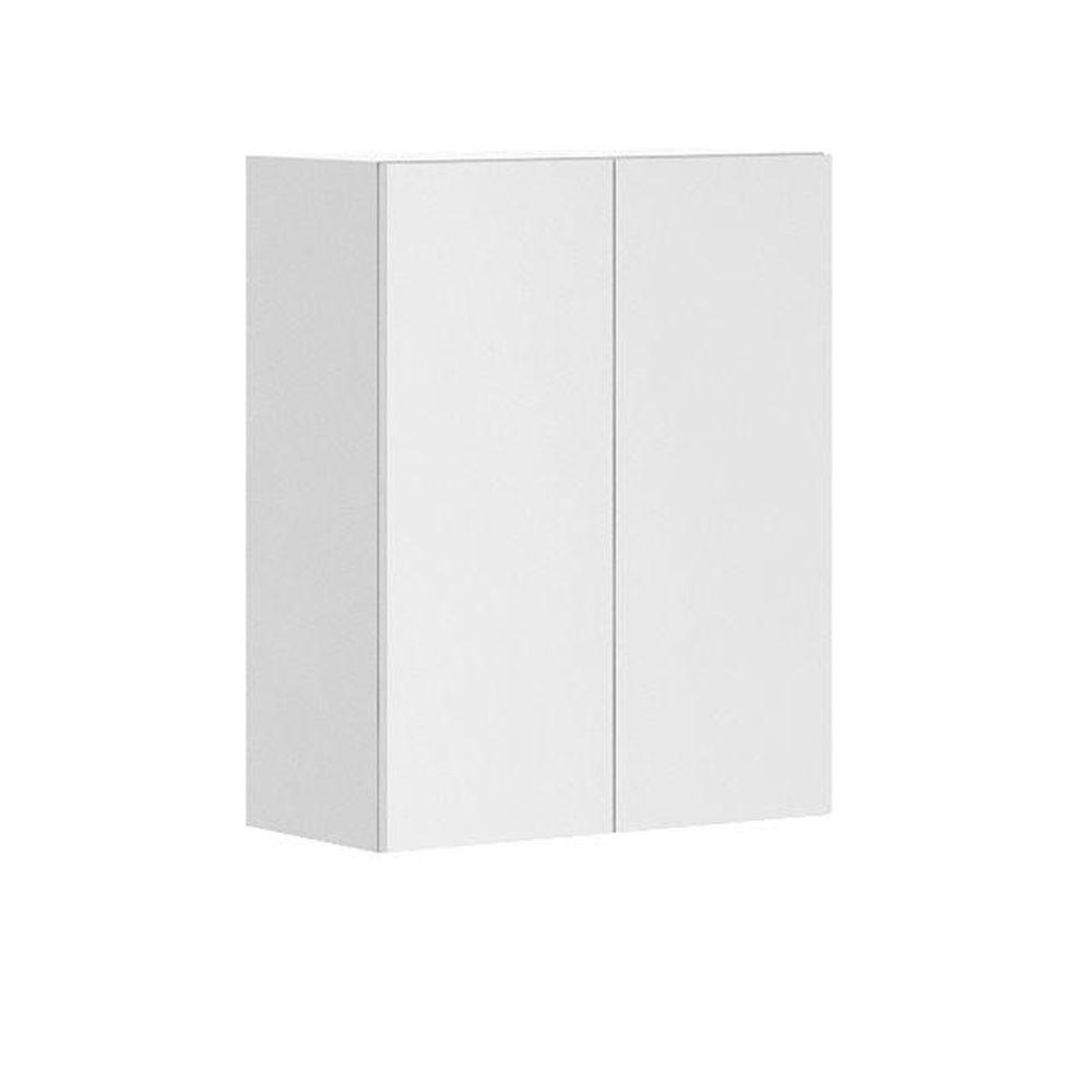 Fabritec Alexandria Ready to Assemble 24 x 30 x 12.5 in. Wall Cabinet in White Melamine and Door in White