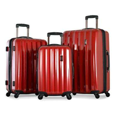 Titan 3-Piece Expandable Polycarbonate 8-Wheel Spinner Set with Mesh Pocket
