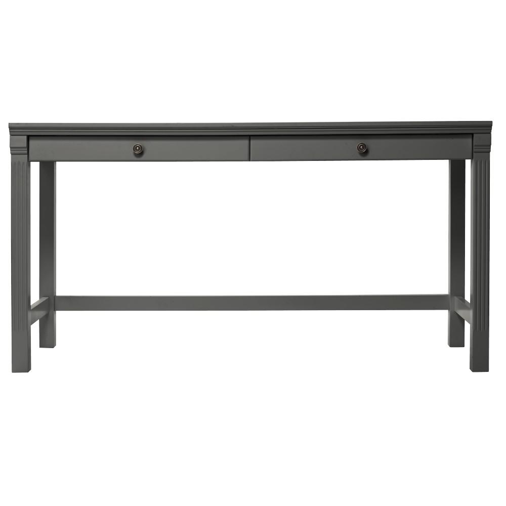 Home Decorators Collection Edinburgh Grey Writing Desk 6335 885 The Home Depot