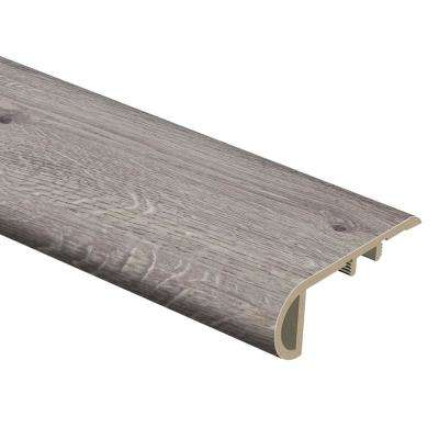 Grey Wood 3/4 in. Thick x 2-1/8 in. Wide x 94 in. Length Vinyl Stair Nose Molding