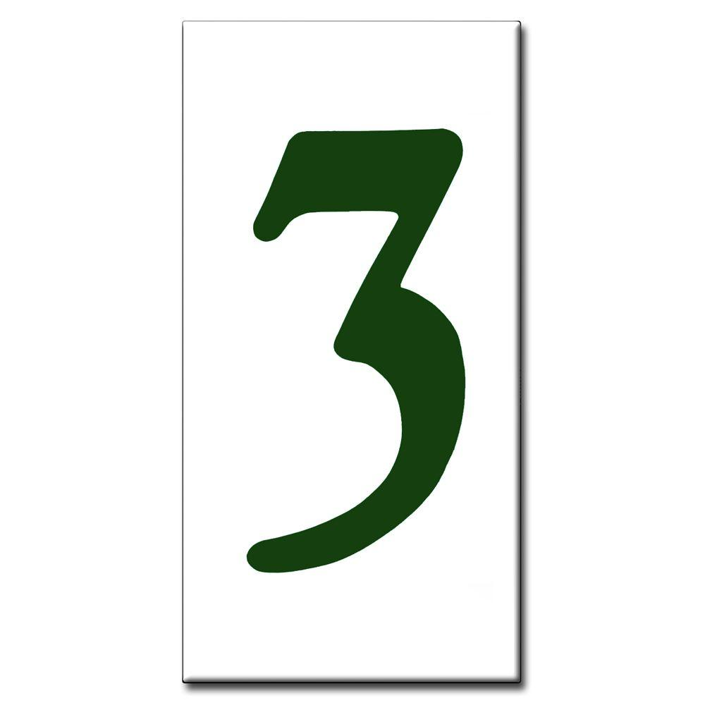 null 2 in. x 4 in. Green Standard Number 3