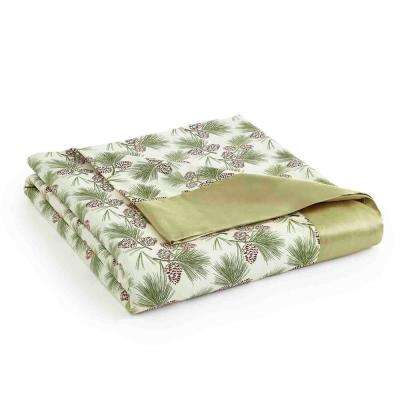 Full Queen Pinecone Year Round Polyester Sheet Blanket