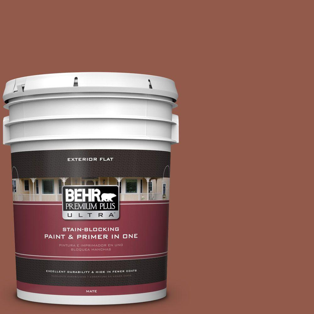 5-gal. #200F-6 Sequoia Grove Flat Exterior Paint