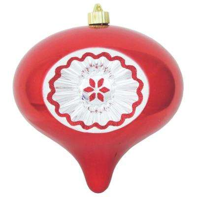 8 in. Sonic Red Shatterproof Reflector Onion Ornament (Pack of 6)
