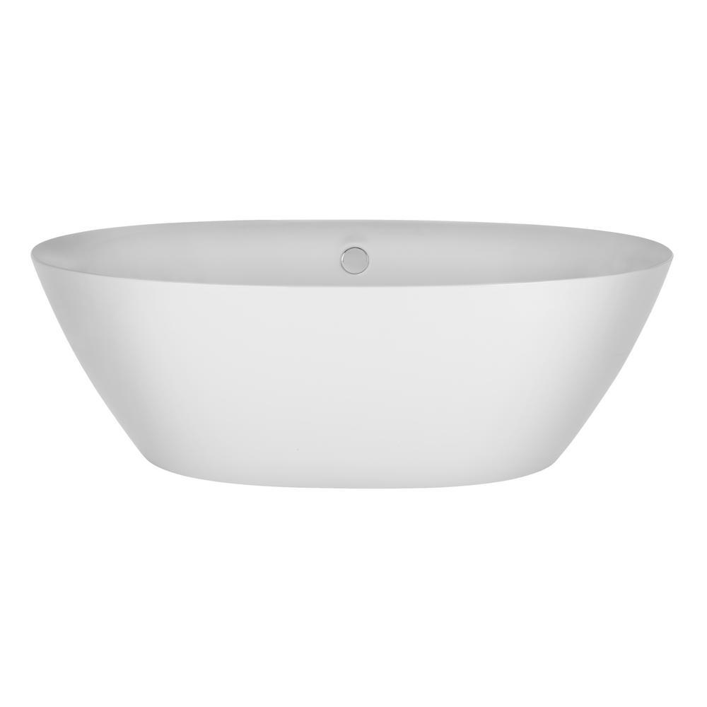 Merveilleux Acrylic Stand Alone Flatbottom Freestanding Bathtub Soaking SPA Tub Modern  Style In