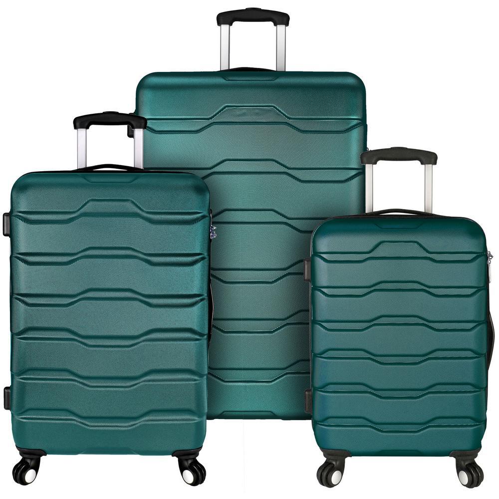 Omni 3-Piece Teal Hardside Spinner Luggage Set