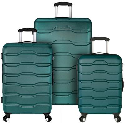 Omni 3-Piece Teal Hardside Spinner Luggage Set
