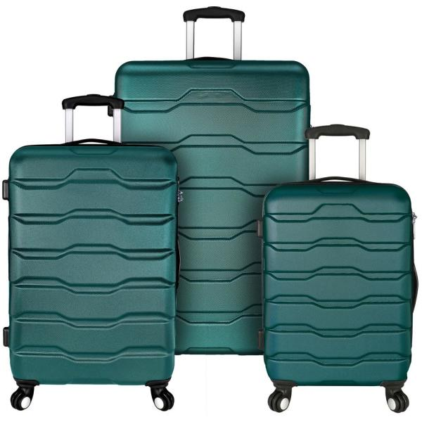 Elite Luggage Omni 3-Piece Teal Hardside Spinner Luggage Set