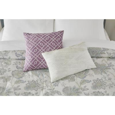 Brianna 5-Piece Lavender Seed Floral Comforter Set