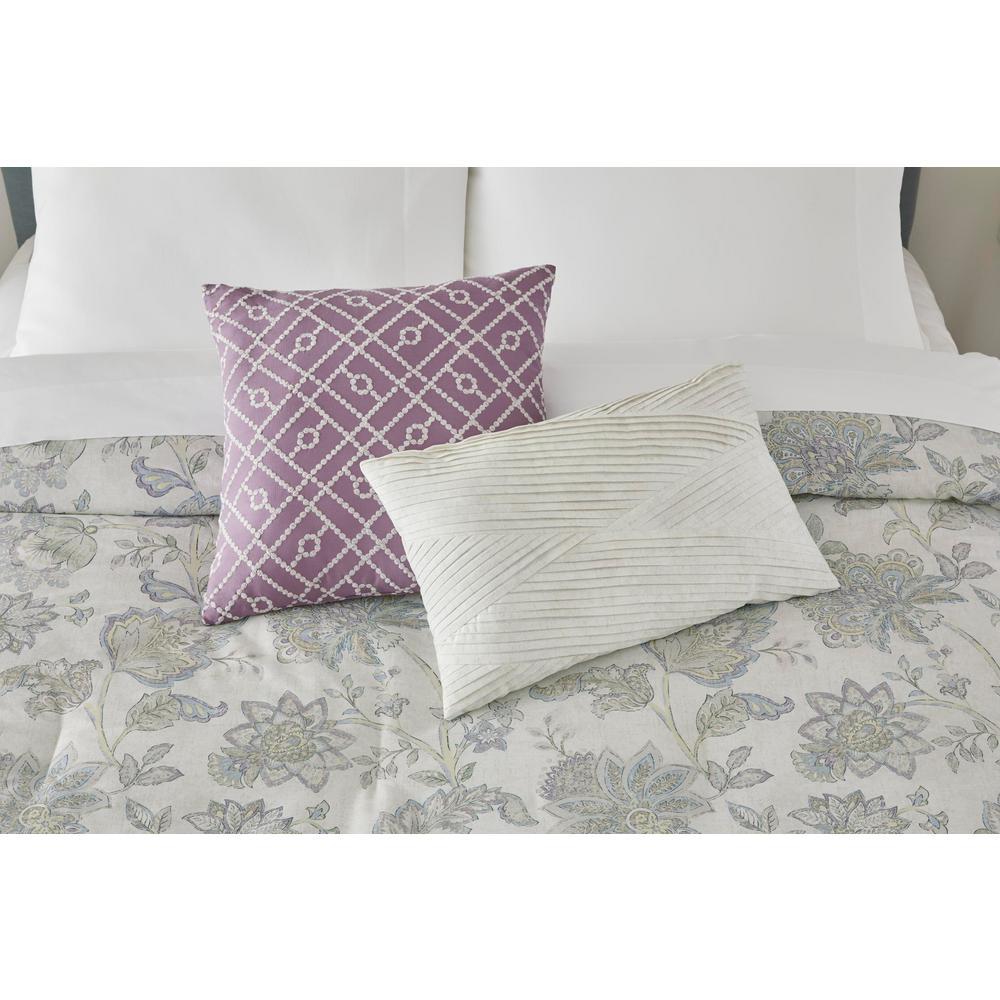 Brianna 5-Piece Lavender Seed Floral Comforter Set