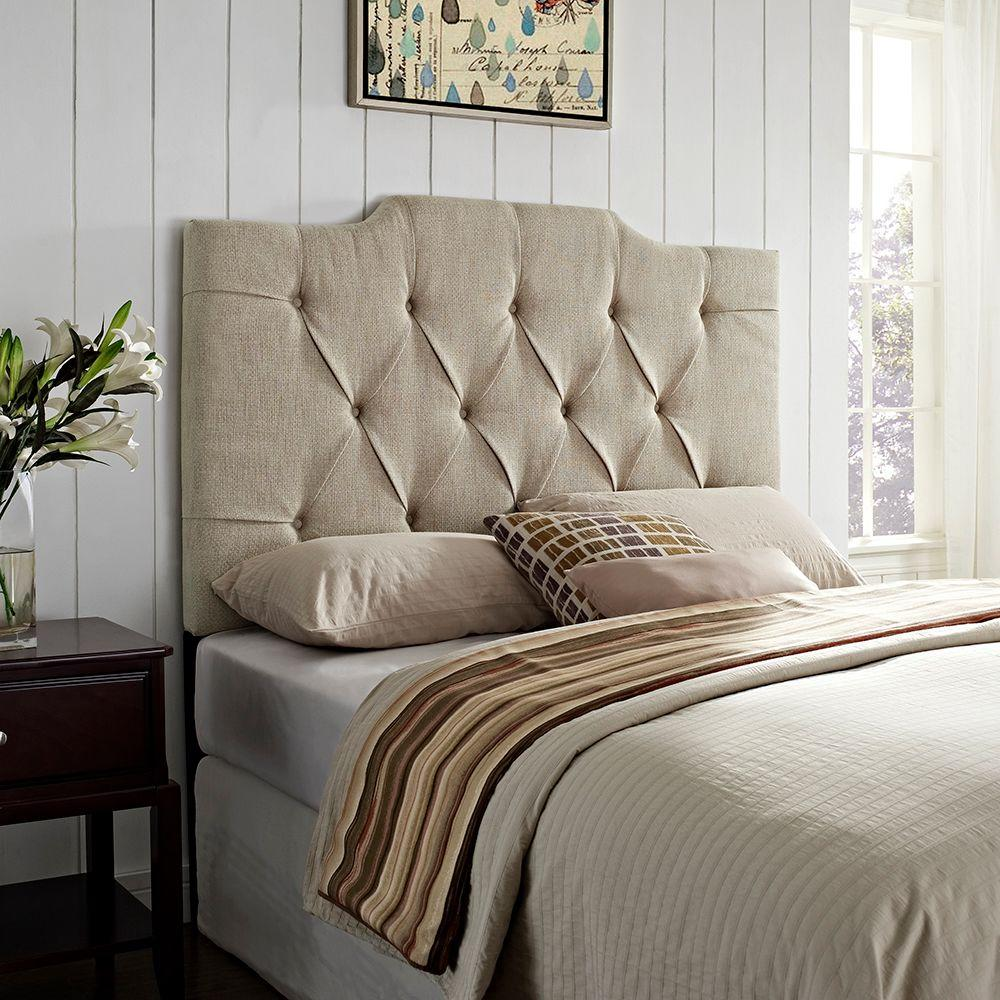 Samuel Lawrence Furniture Tan Fullqueen Headboard Ds 8626 250 The - Comfortable-upholstered-headboard