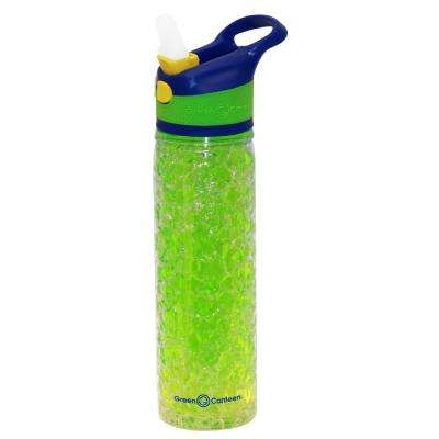 19 oz. Blue and Green Double Wall Plastic Tritan Hydration Bottle with Crackle Freeze Gel (6-Pack)