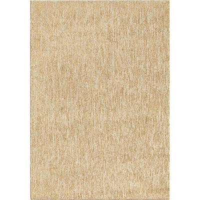 Mixed Plush Solid Beige 8 ft. x 11 ft. Area Rug