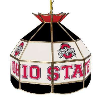 The Ohio State University 16 in. Black Hanging Tiffany Style Lamp