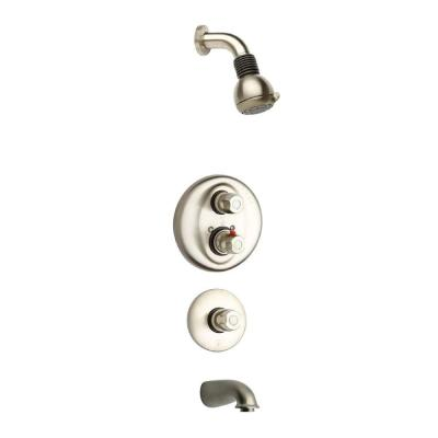 Water Harmony 3-Handle 2-Spray Tub and Shower Faucet in Brushed Nickel