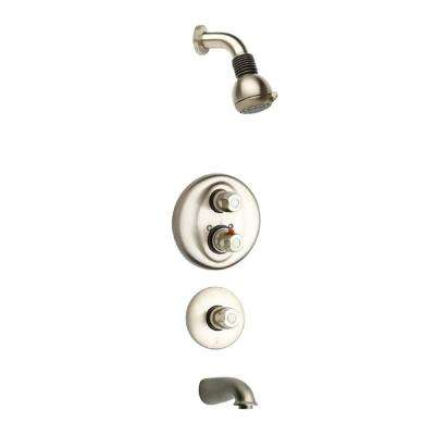 Water Harmony Shower System 5 in Brushed Nickel