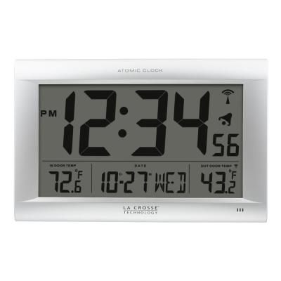 Jumbo Atomic Digital Wall Clock with Outdoor Temperature