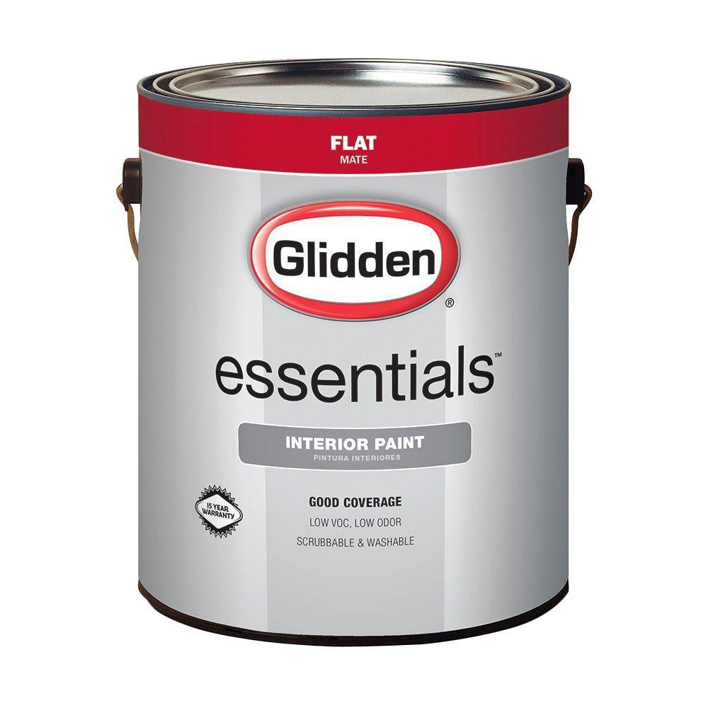 Exceptionnel Glidden Essentials 1 Gal. White Flat Interior Paint