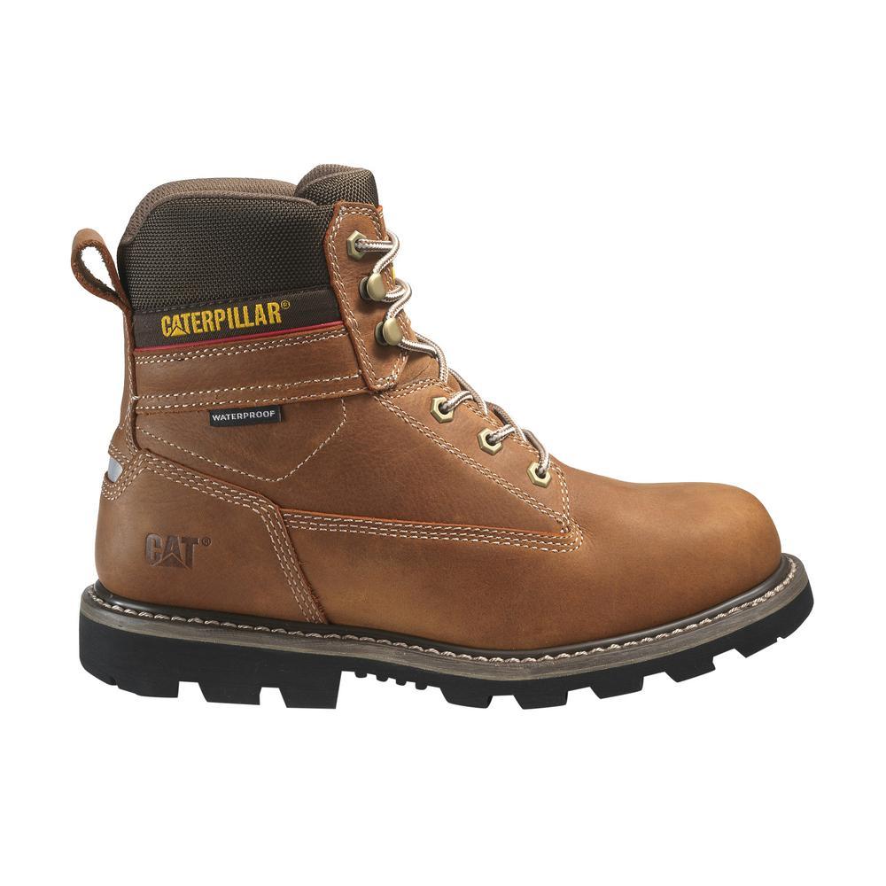 2e74f1cf9f2 CAT Footwear Men's Size 8 Walnut Grain Leather Idaho Waterproof Soft ...