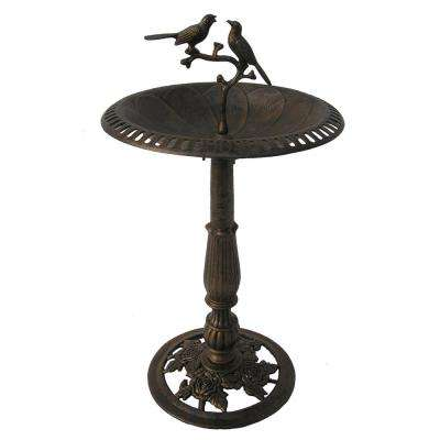 Lotus Twin Birds Birdbath