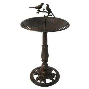 Lotus Twin Birds Birdbath by