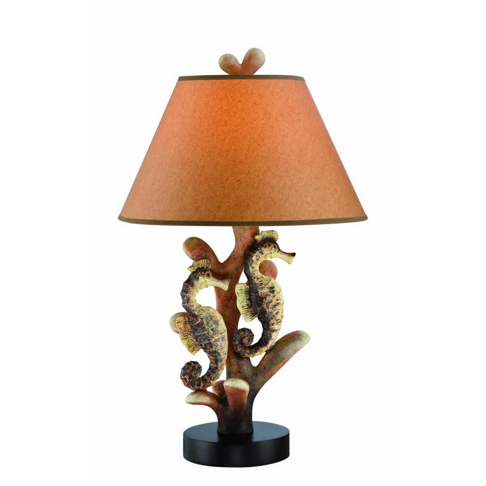 26.5 in. Dark Brown Table Lamp