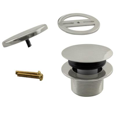 1-1/2 in. MPSM Coarse Thread Tip-Toe bathtub Drain Plug with Floating Faceplate in Stainless Steel