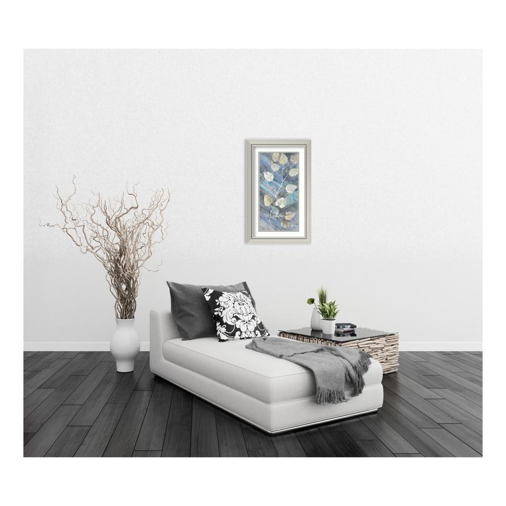 Amanti Art 20 in. W x 32 in. H \'Silver Leaves II\' by Albena Hristova ...