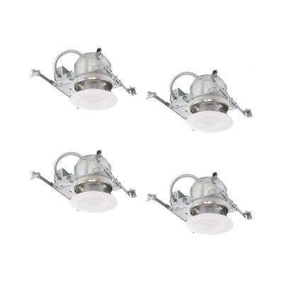 6 in. White Integrated LED Recessed Trim Kit (4-Pack)