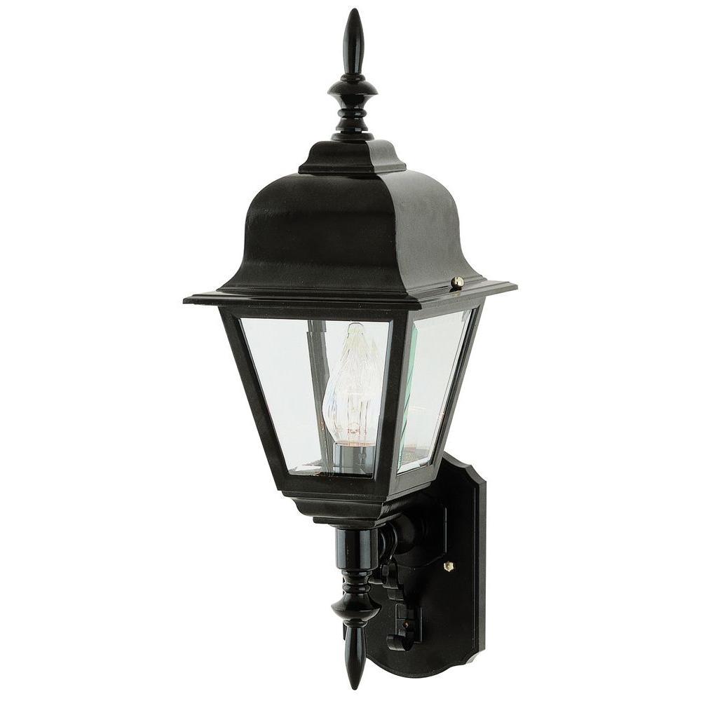 Stewart 1-Light Black Outdoor Incandescent Wall Lantern