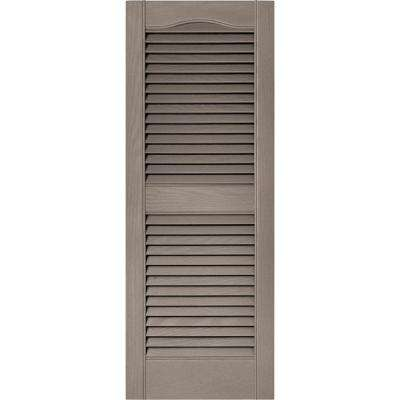 15 in. x 39 in. Louvered Vinyl Exterior Shutters Pair in #008 Clay